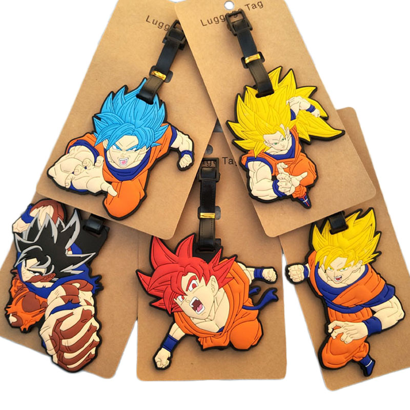 New Dragon-Ball Luggage&bags Accessories Cute Novelty Rubber Funky Travel ID Addres Holder Label Straps Suitcase Luggage Tags
