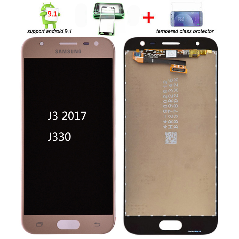 Original J330 lcd For <font><b>Samsung</b></font> Galaxy J3 <font><b>2017</b></font> J330 <font><b>J330F</b></font> J330G LCD Display and Touch Screen Digitizer Assembly J3 Pro <font><b>2017</b></font> image