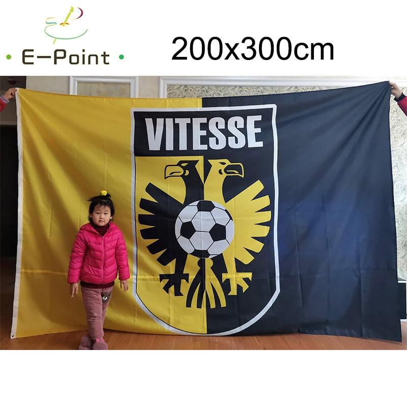 Нидерланды SBV Vitesse арнхем флаг 3 фута * 5 футов (90x150 см) Большой размер рождественские украшения для дома флаг баннер тип A подарки