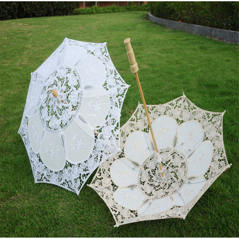Fashion Romantic Lace Umbrella Wedding Party Decoration Bridal Photograph Wedding Accessories