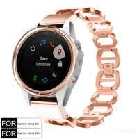 Fenix 6S pulsera QuickFit 20mm acero inoxidable pulido hueco correa de reloj para Garmin Fenix 5S/ fenix 5S Plus