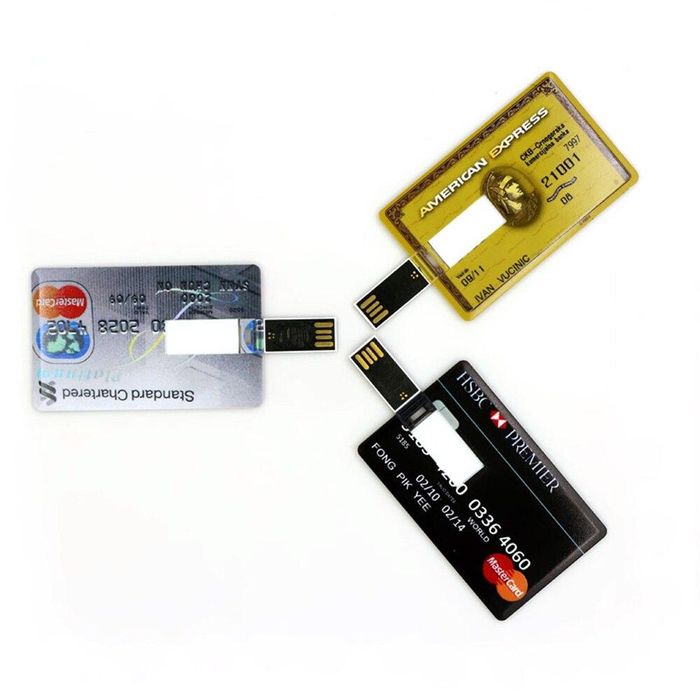 Bank Card USB Flash Drive 4GB 8GB 16GB Pendrive Memory stick Wallet HSBC Master Credit card pen drive 32GB 64GB 128GB U stick