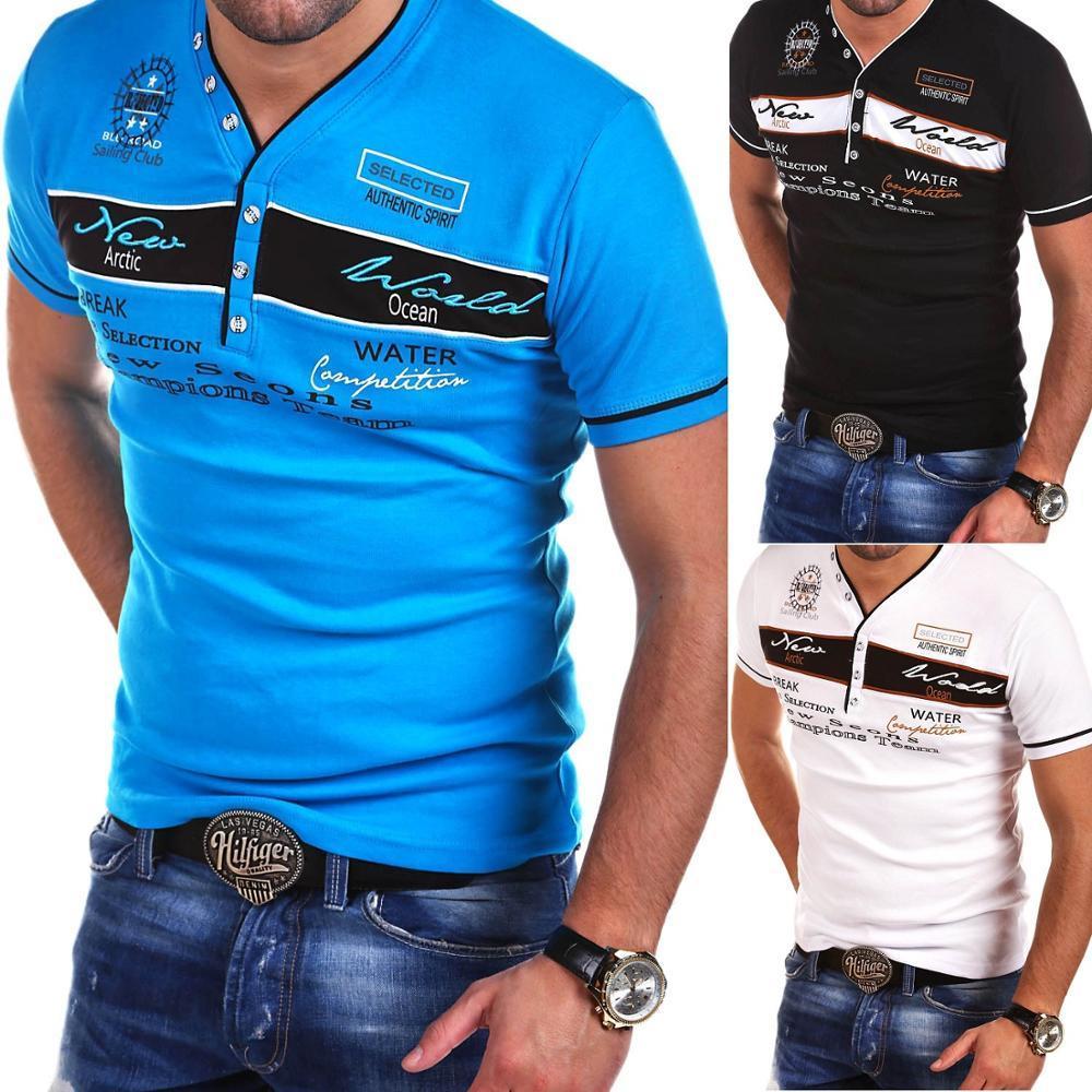 Бренд ZOGAA, мужские футболки с коротким рукавом, повседневные, облегающие, хлопковые, с v образным вырезом, дышащие, с принтом, мужские футболки, летние майки футболки для мужчин|Футболки|   | АлиЭкспресс