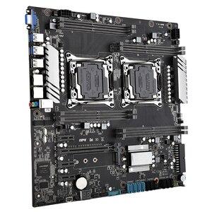 Image 3 - X99 scheda madre dual CPU LGA 2011 v3 v4 E ATX USB3.0 SATA3 VGA con dual Xeon scheda madre con slot per M.2 dual Giga LAN