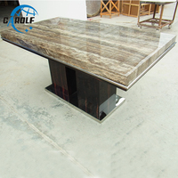 modern luxury dining room furniture new desig stone top wooden dining table