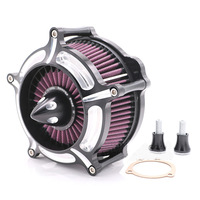 Motorcycle Aluminium Alloy Large Air Filter Air Purifier With Air Intake Filter System For Harley Davidson Moto