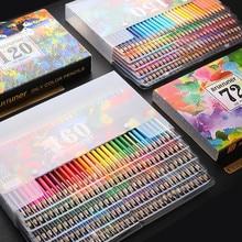 Brutfuner 48/72/120/160/180 matite colorate professionali a colori Set matite morbide in legno per acquerelli per disegnare disegni artistici