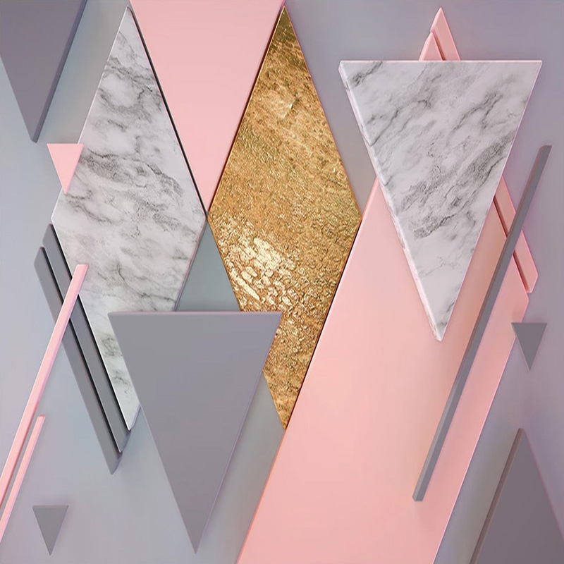 Custom-Photo-Wallpaper-3D-Nordic-Style-Pink-Rhombus-Geometry-Murals-Living-Room-Bedroom-Wall-Painting-Papel (2)