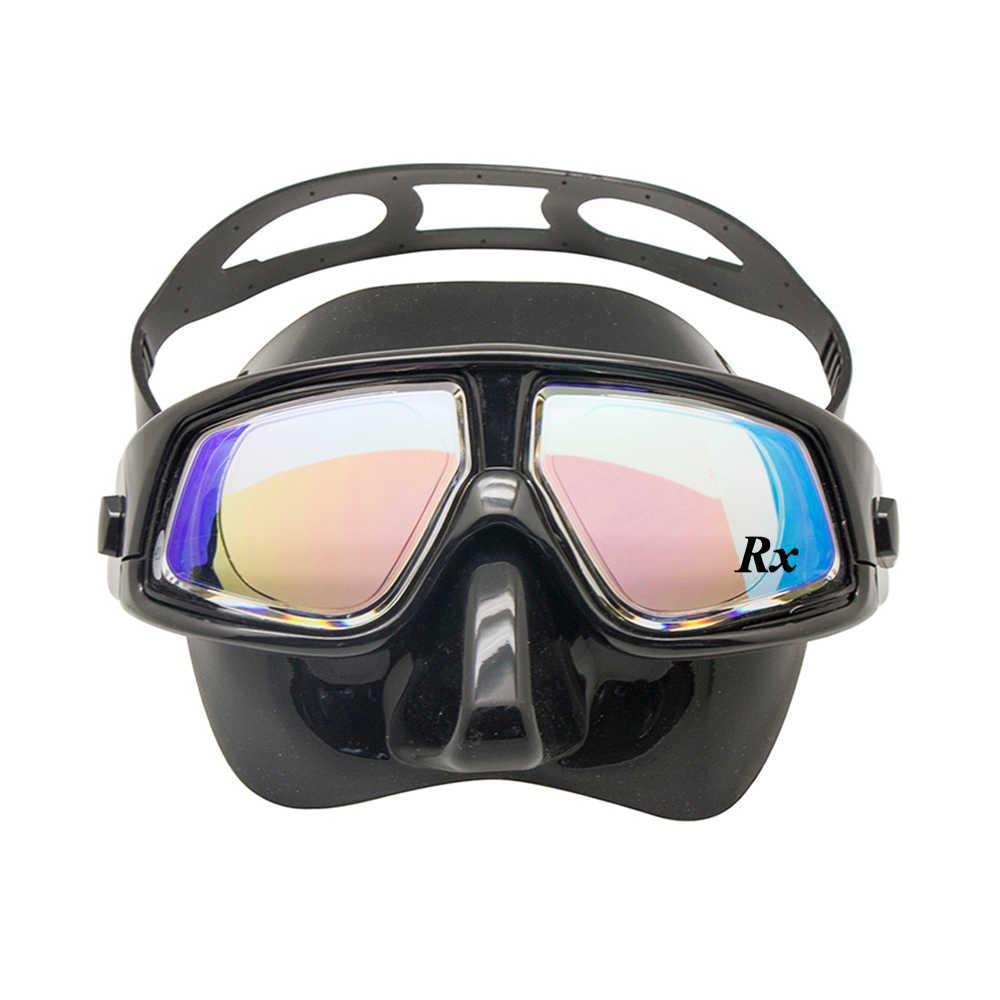 Rx Prescrizione di Correttiva Ottico Diving Gear Kit Ipermetropia Miopia Snorkel Set Dry Top Maschera Subacquea Visione Ampia Anti-Fog UV400