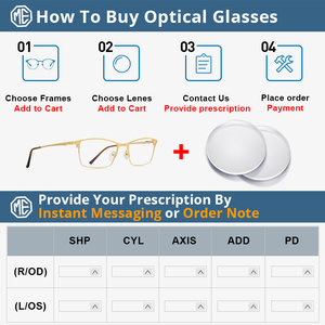Image 5 - MERRYS DESIGN Men Luxury Titanium Alloy Optics Glasses Male Ultralight Eye Myopia Hyperopia Prescription Eyeglasses S2041