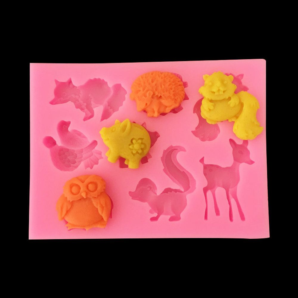 Silicone Cartoon Animal Fondant Mold DIY Soap Cake Mould Pastry Cookie Sugar Craft Chocolate Baking Tool Kitchen Accessories