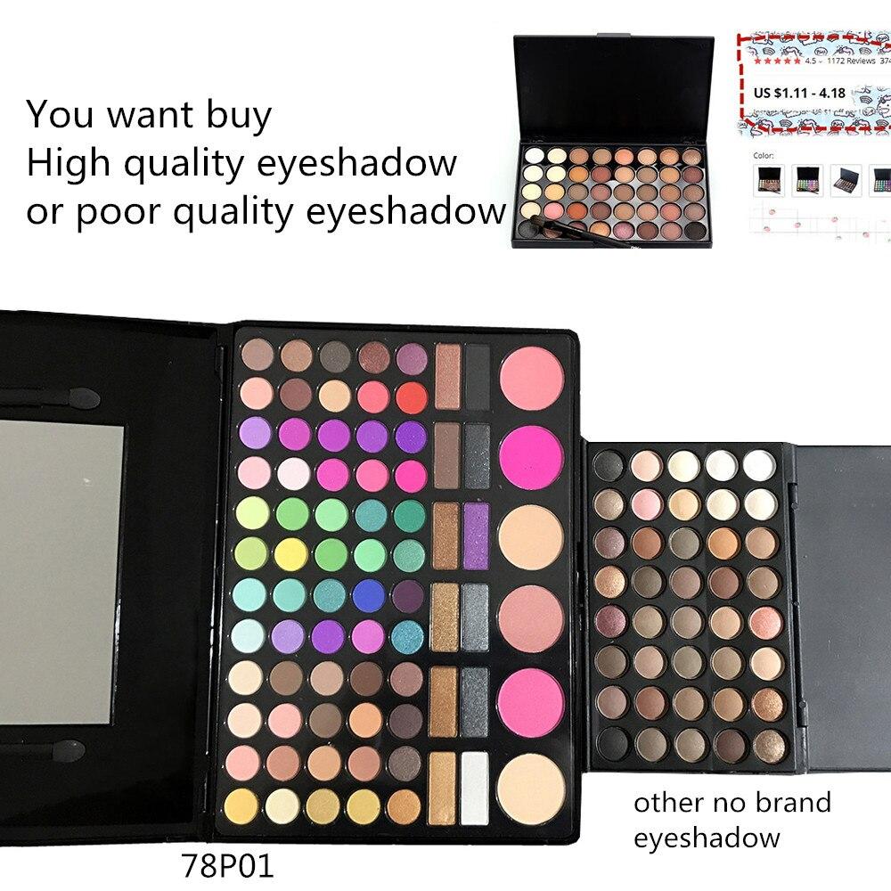 Image 5 - SANIYE  78 Colors Eyeshadow Palette with Mirror Beauty glazed Multicolor Eye Shadow Blusher palette Big Makeup  78P04Eye Shadow   -