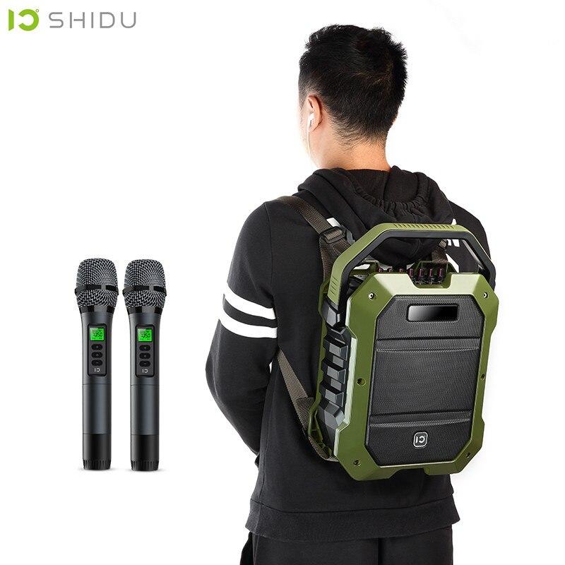 Профессиональный громкоговоритель 80 Вт рюкзак HIFI эхо открытый портативный динамик UHF микрофоны инструмент входной громкоговоритель