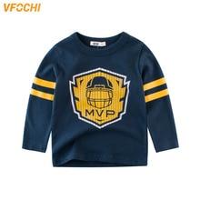 VFOCHI 2019 Boys T Shirt MVP Champion Print Tee Kids T Shirt 2-10Y Teenager Boy Tops Boy Sports Clothes Long Sleeve Boy T Shirts цены