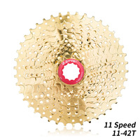 ZTTO 11 S 42T MTB เทปคาสเซ็ท MTB 11 Speed Freewheel Golden บน