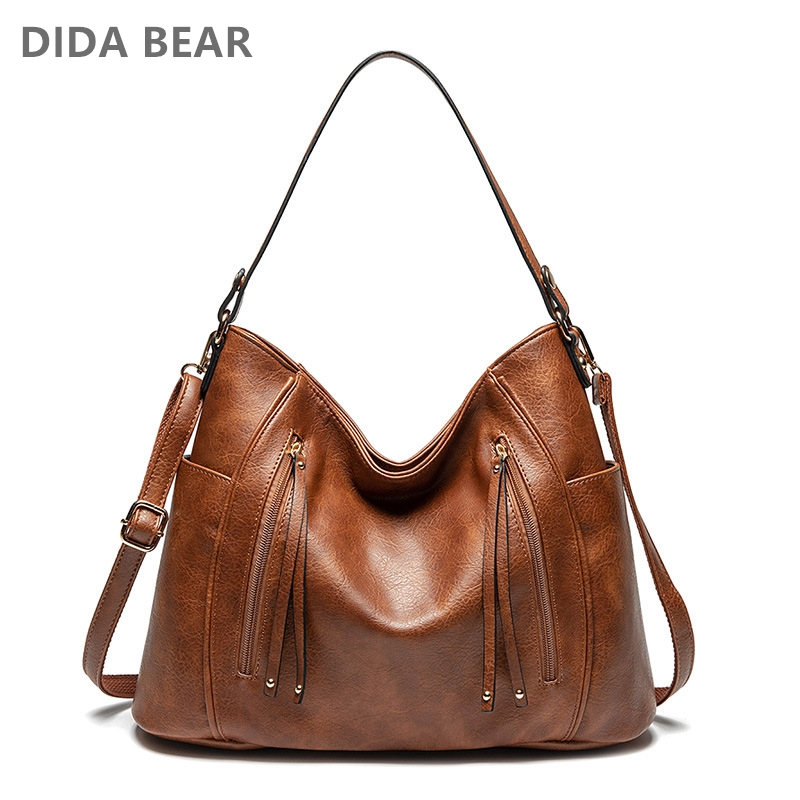 DIDABEAR Hobo Bag Leather Women Handbags Female Fashion Shoulder Bags Vintage Large Bucket Bags Bolsas Femininas Sac A Main