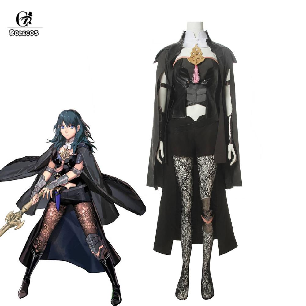ROLECOS Fire Emblem Byleth Cosplay Costume Byleth Cosplay Women Game Costume Outfit Fire Emblem Cloak Cape Shorts Full Sets image