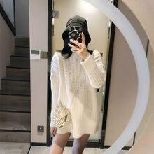Женский вязаный свитер в Корейском стиле rainstone повседневный