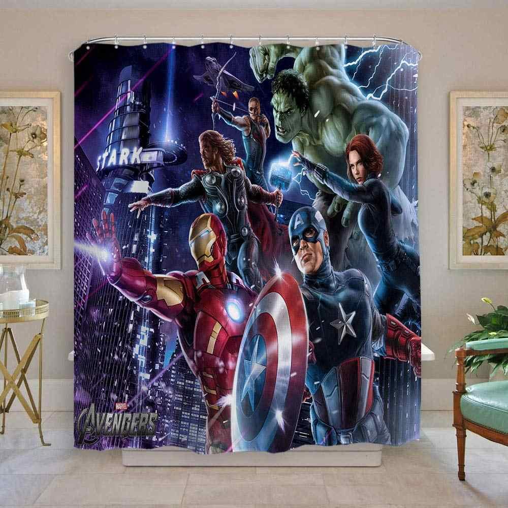 super hero shower curtain spider man