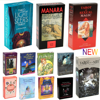 Light Seer's Tarot 78 Card Deck Card Board Divination Reading Love Moon Near Beginners  Tarot of Manara Pagan Cats Oracle