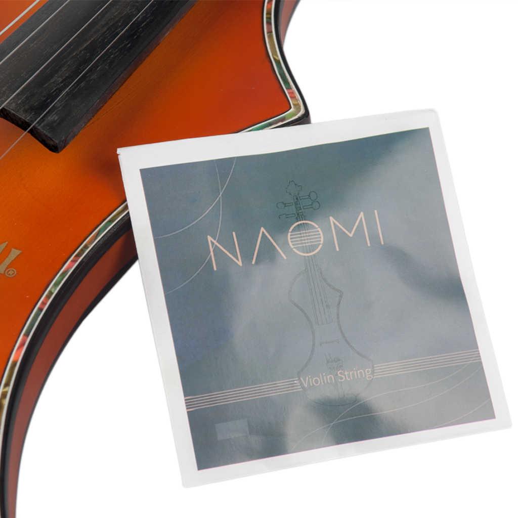 NAOMI struna do skrzypiec na 4/4 3/4 skrzypce stalowe struny G D A & E struny skrzypce części zestaw akcesoriów nowość