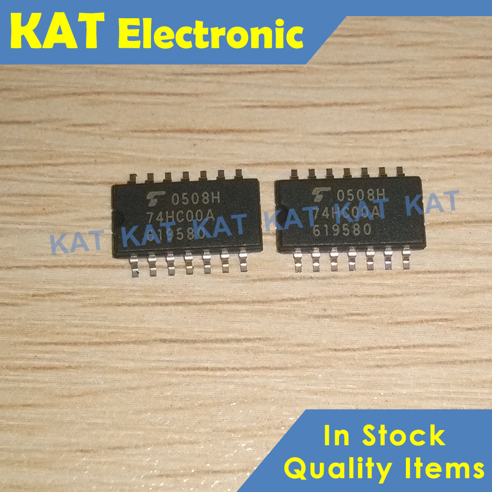10PCS/Lot TC74HC00AF 74HC00A TC74HC00AFN Sop-14 Quad 2-Input NAND Gate CMOS Digital Integrated Circuit Silicon Monolithic