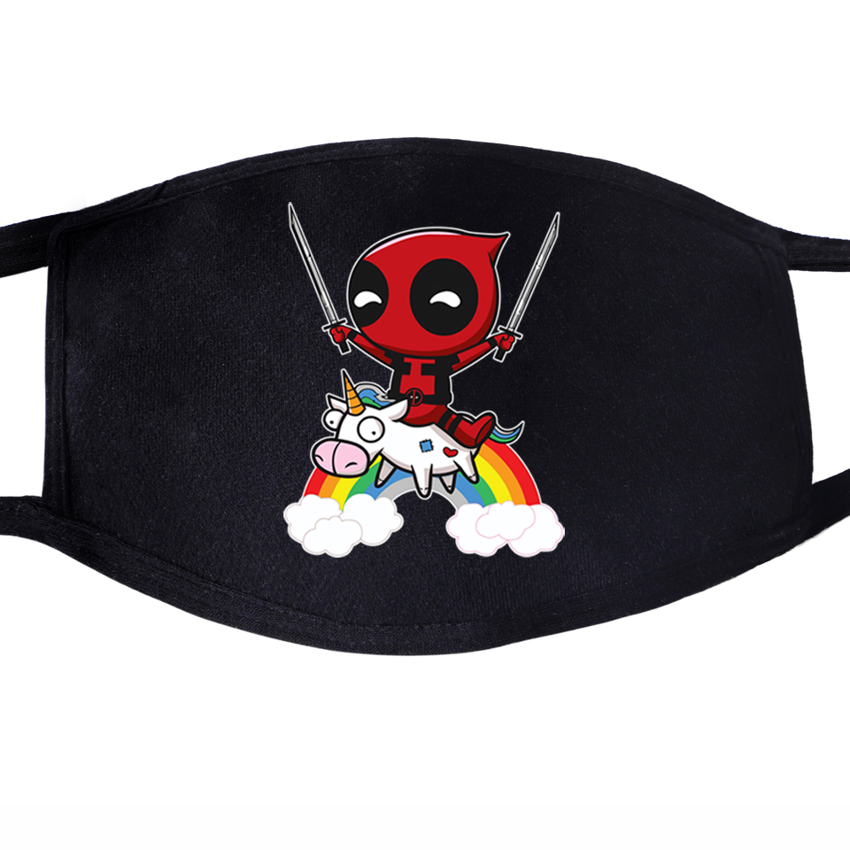 Deadpool Funny Superhero Dead Pool Super Hero Dustproof Mouth Face Mask Unisex Cycling Anti-Dust Facial Protective Cover Masks