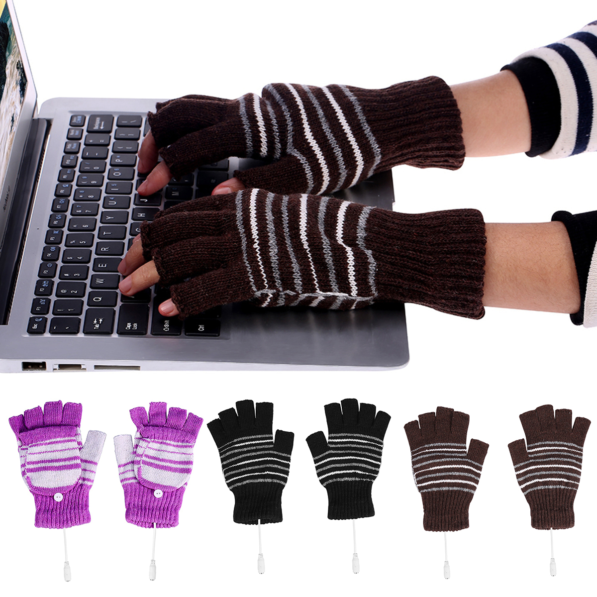 Gumstyle Group FFF Winter Fingerless Gloves Cosplay Arm Warmers