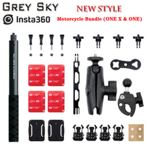 Insta360 ONE X2 and ONE R  Selfie Stick and insta360 Motorcycle Bundle (ONE X & ONE R)  Motorcycle riding accessories
