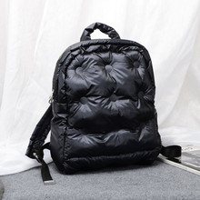 2019 Autumn winter new European boom fashion Casual Space Cotton Down Feather Padded Shoulder Crossbody Bag business Backpack