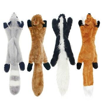 Cute Plush Squeaky Pet Toys-  - Rabbit - Squirrel - Skunk - Fox 1