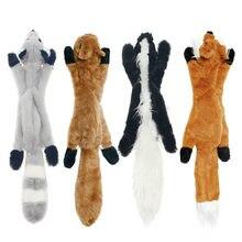 2020 nowe słodkie pluszowe zabawki piskliwy wilk zwierząt królik zwierząt pluszowy pies chew piskliwy gwizdek zaangażowany wiewiórka zabawki dla psów