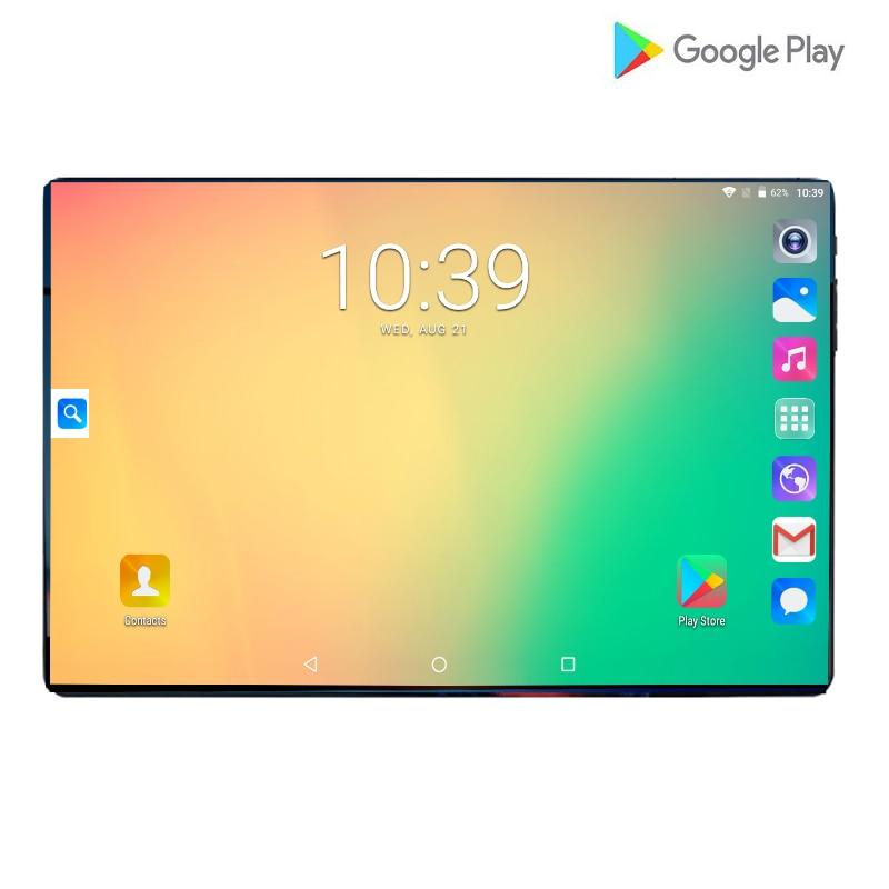Nouveau Global 10.1 pouces tablette 3G 4G FDD LTE Android 9.0 Octa Core 1280X800 IPS 2.5D écran tactile RAM 6GB ROM 64 GB GPS tablette 10.1