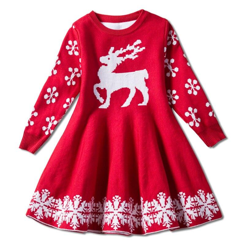 Filles Cardigan noël Pull robe enfants épais hiver robes Enfant en bas âge Pull Pull possède Pull Noel Enfant Fille Kersttrui