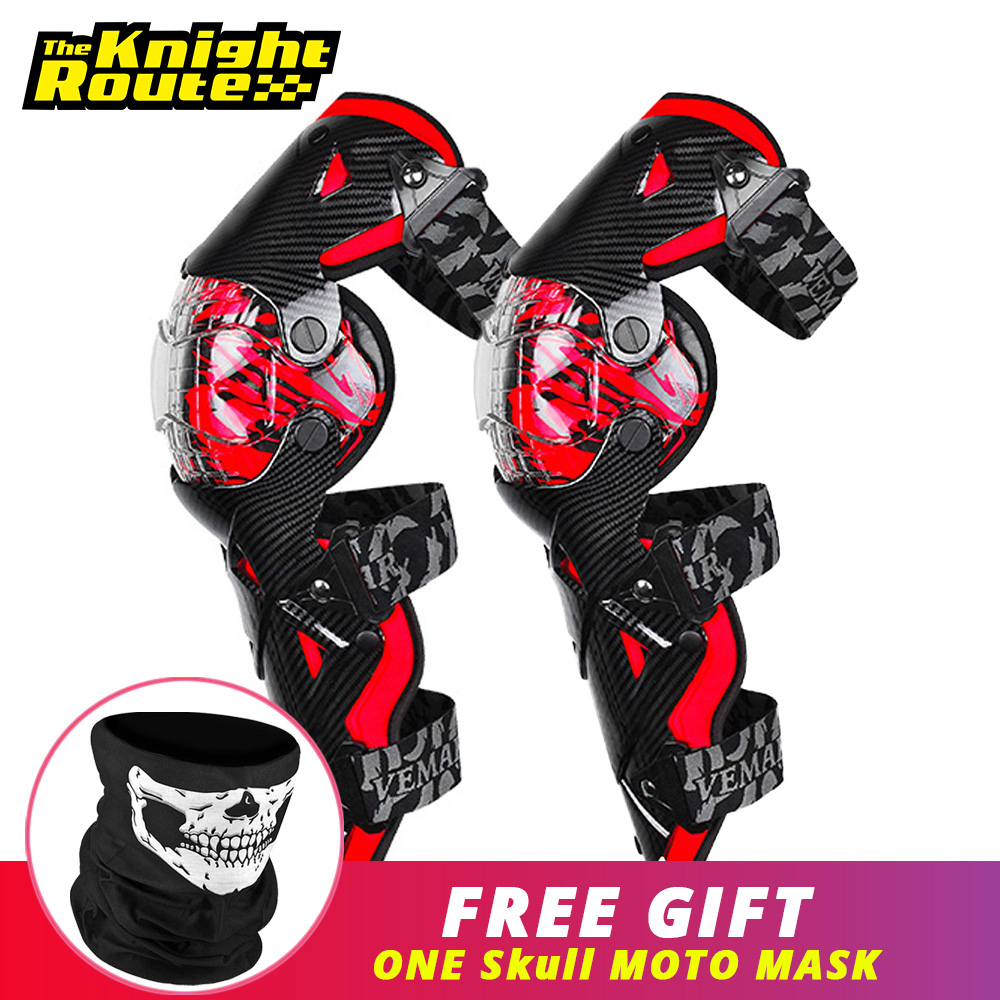 Red Motorcycle Knee Pad Men Protective Gear Knee Gurad MX DH Motorbike Knee Protector Rodiller Equipment Motocross Moto