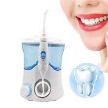 VamsLuna Dental Flosser Răng Miệng Irrigator Nha Khoa Nước Chăm Sóc Răng Miệng Bụi Vệ Sinh Răng Miệng Bộ 7 Vòi Phun 600ml Thủy Lợi