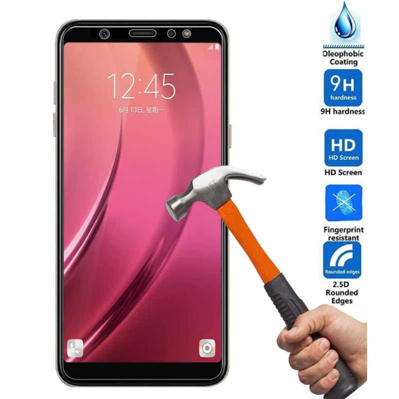 For Samsung Galaxy A6 2018 Tempered Glass Screen Protector Scratch-Proof Anti-Shatter Screen Protective Film Accessories