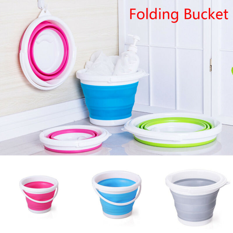 Outdoor Camping Trailer Folding Collapsible Bucket Portable Barrel 10L A