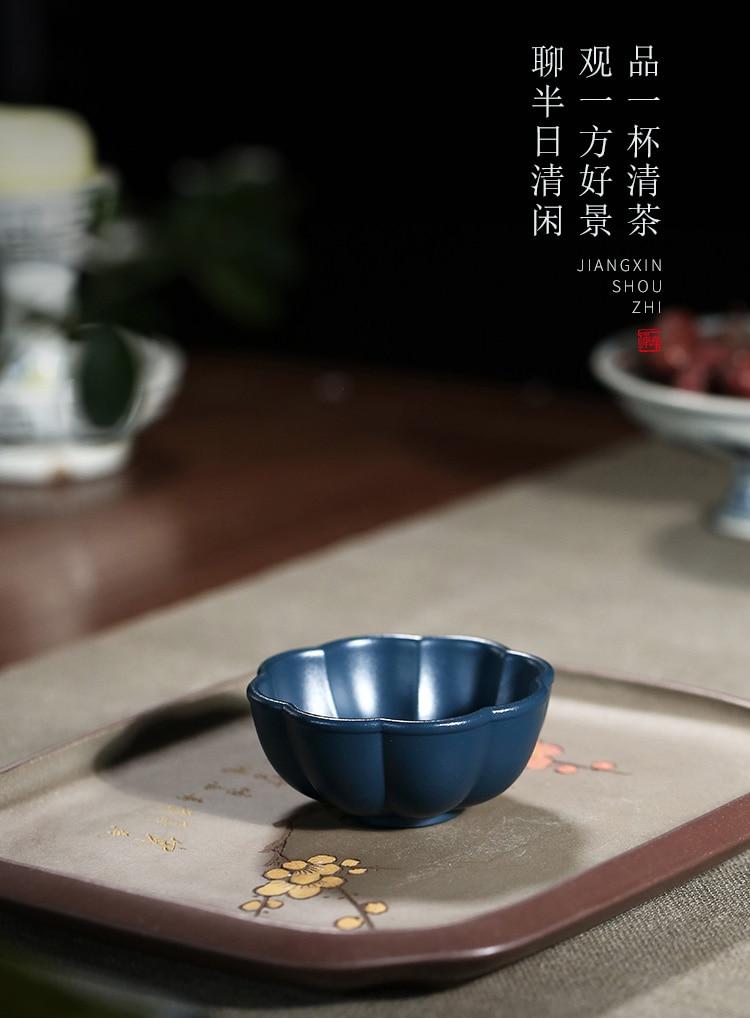 chá com amostra xícara de chá tinta