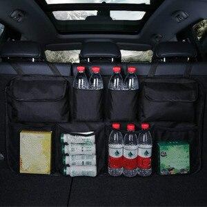 Image 4 - Organizador de maletero de coche con múltiples bolsillos bolsa de almacenamiento para asiento trasero de gran capacidad, asiento trasero ajustable, bolsa Oxford Universal para remolque