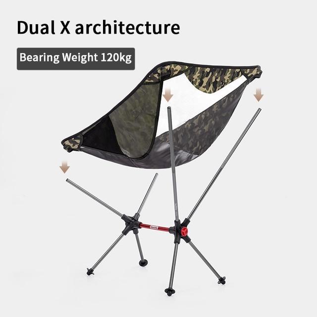 Naturerandonnée chaise pliante extérieure lune chaise Camping sable plage chaise Portable pique-nique en alliage daluminium chaise Camping Barbecue