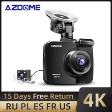 Car-Dvrs-Recorder Support Back-Camera Wifi Azdome Gs63h Built-In-Gps Rear Night-Vision