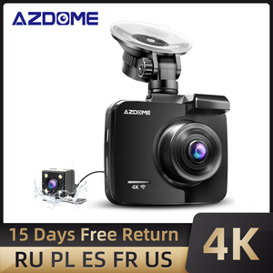 Image 1 - AZDOME GS63H 4K/2880*2160P WiFi Car DVRs Recorder Dash Cam Built in GPS WDR Night Vision Support Dual Cam Rear Back Camera
