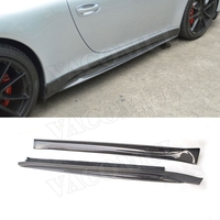 Carbon Fiber Side Skirts Aprons fit for Porsche 911 991 GT3 Carrera 2012 2013 2014 2015 V Style Door Bumper Guard Car Styling