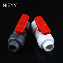 50mm PVC Ball Valve Shut Off Water Tool Caps Gate Garden Connectors For Irrigation