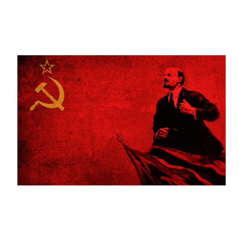 Флаг для вечеринки Lenin 90x150 см