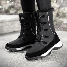 2019 Fashion Women Winter Snow Boot Waterproof Sneakers Outdoor High Top Ankle Thick Fur Warm Cotton Shoes big size