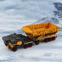 1/50 Scale alloy Stray earth carrier vehicle diecast buoy transporter vehicle toy simulation static model child toys collection