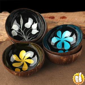 Bowl Storage Decorative-Bowl Coconut-Shell Candy Home Natural Desktop