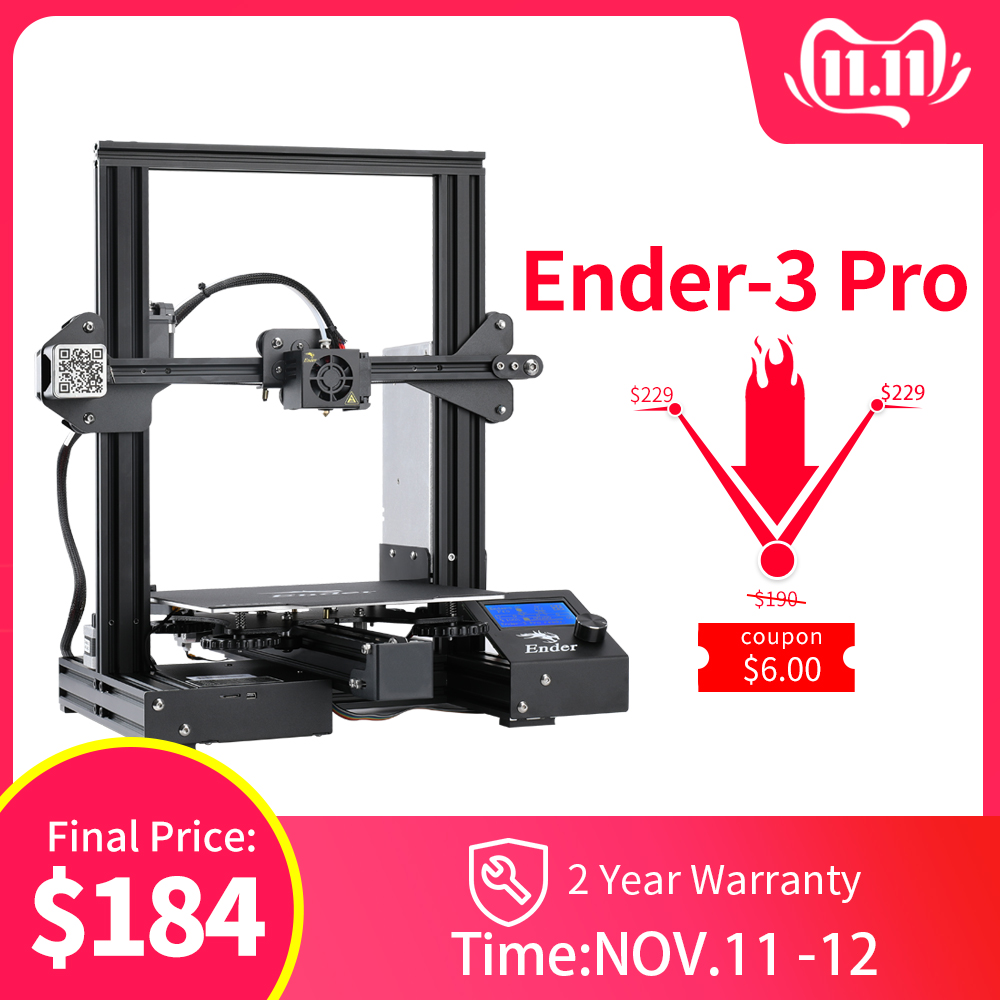 Newest Ender 3 Pro 3D Printer DIY KIT Creality 3D Upgraded Cmagnet Build Plate Resume Power Failure Printing magnetic plate-in 3D Printers from Computer & Office